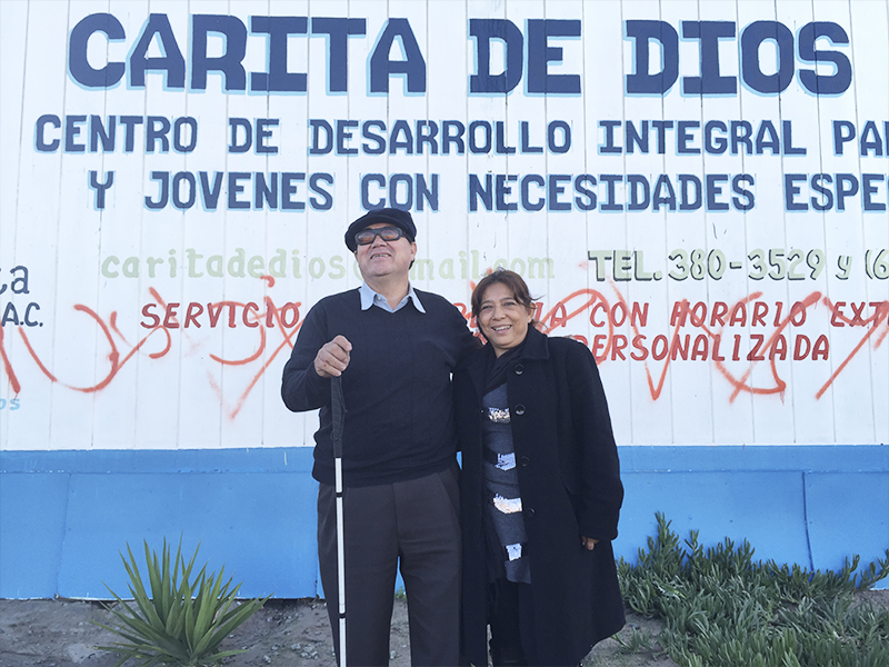 At 'Carita de Dios' Center